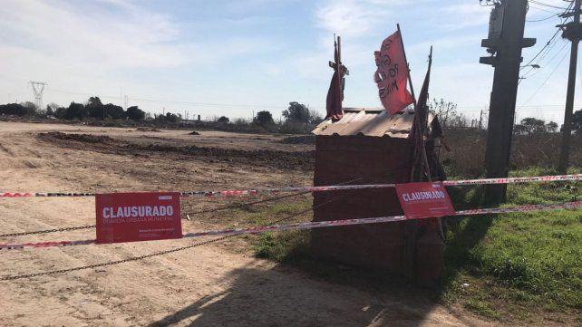 El municipio clausuró un predio de la zona sudoeste por excavaciones ilegales