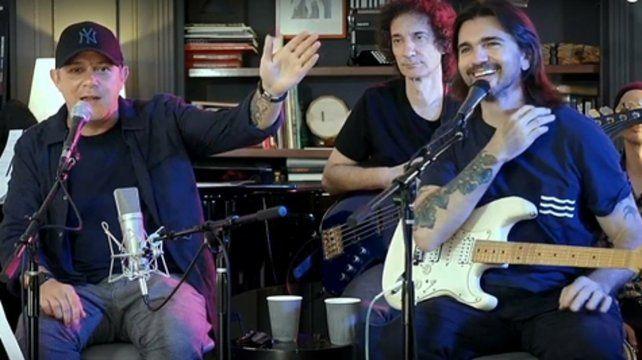 Desde Miami. Alejandro Sanz y Juanes debieron suspender sus recitales pero se reunieron para un show on line.