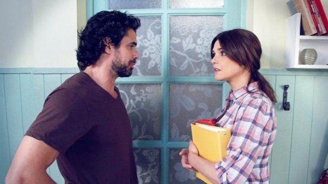 Castro y Araceli González durante el rodaje.