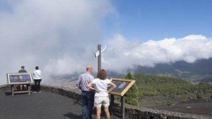 El parque natural de Cumbre Vieja, en la isla de La Palma.