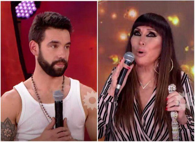 Agustín Sierra sorprendido ante la inesperada confesión que le hizo Moria Casán en el Cantando 2020.