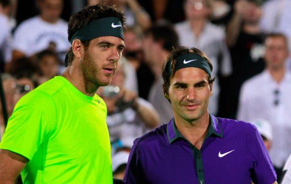 Delpo participó de la exhibición que brindó Roger Federer en el país.