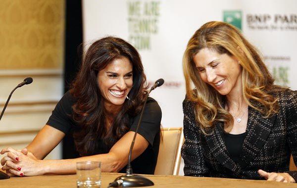 Gaby y Monica Seles