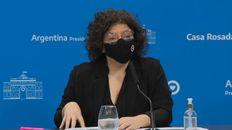 La ministra de Salud Carla Vizzotti hizo anuncios esta mañana sobre Sinopharm.