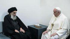 El austero gran ayatolá recibió en su casa al Papa Francisco. Fue la primera vez en la historia que un Pontífice se encuentra con un ayatolá.