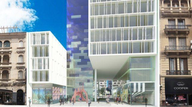 Concesiones. El desarrollador inmobiliario debió resignar seis niveles en la torre que da a Corrientes para lograr la venia del Concejo.
