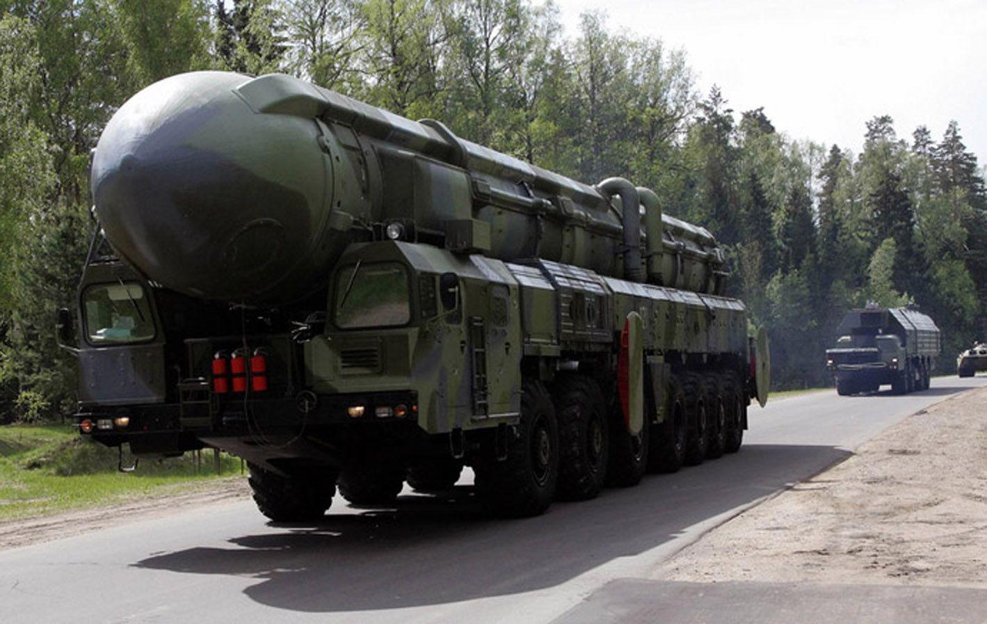 Alistado. Misil nuclear móvil ruso Topol-M. Es un arma en plena producción.