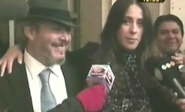 Victoria lució un vestido de encaje negro que dejó ver su embarazo de seis meses. (Imagen TV)