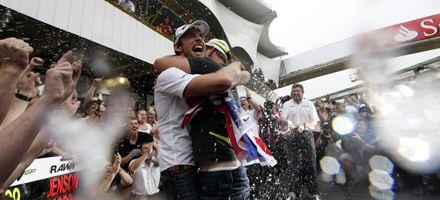 Button terminó quinto y le alcanzó para ser campeón de la Fórmula Uno