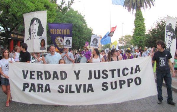 La muerte de Silvia Suppo movilizó a la población en diferentes marchas para reclamar justicia.