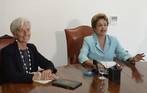 Dilma se reunió con la titular del FMI