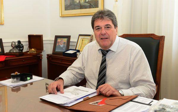 El presidente de la Cámara de Diputados de la provincia de Santa Fe.
