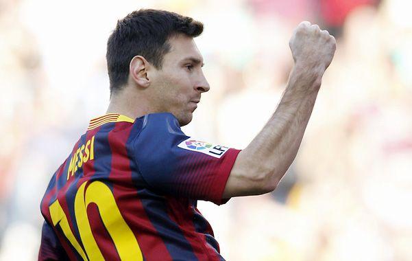 Doblete. Messi anotó el primero y el tercer tantos en la victoria de los catalanes.