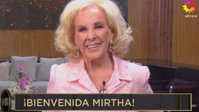 Mirtha regresó después de 8 meses a la televisión. (Captura de TV)
