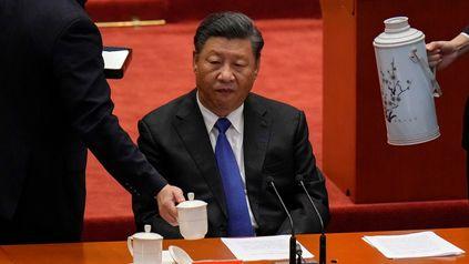 El presidente chino este sábado, durante la celebración del aniversario de la Revolución.