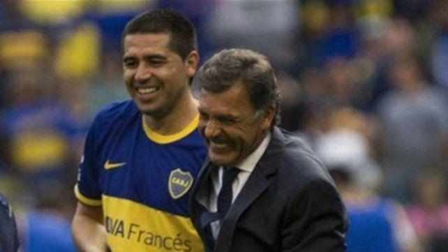 Juntos. Juan Román Riquelme quiere a Miguel Russo como sucesor de Alfaro.