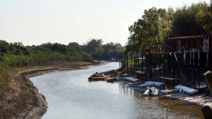El año pasado, el Paraná llegó a los 0,08 metros en Rosario.