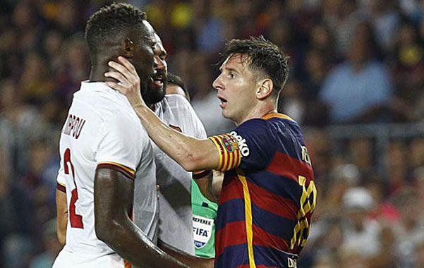 Messi perdió la paciencia y se fue a las manos