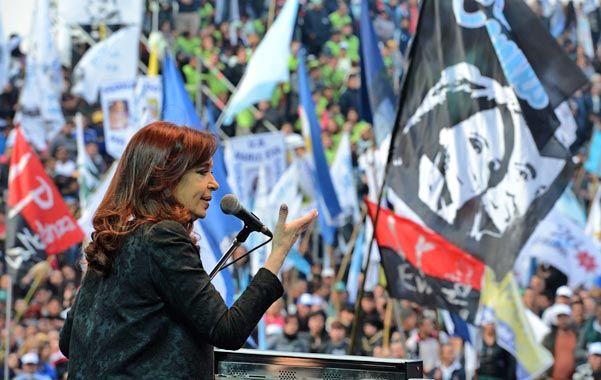 Fervor. La presidenta respaldó a sus candidatos en La Matanza.