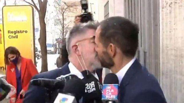 Luis NovaresioyBraulio Bauab se casaron este jueves