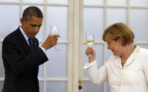 Mala sintonía. Obama y Merkel tuvieron tiempos mejores en sus relaciones.