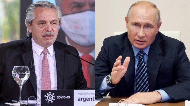 Alberto Fernández felicitó a Putin por la vacuna contra el coronavirus