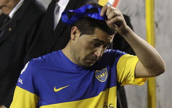 Juan Román le dijo adiós al club de sus amores.