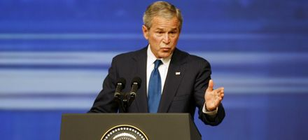 Bush reiteró que Irán es una amenaza para el mundo