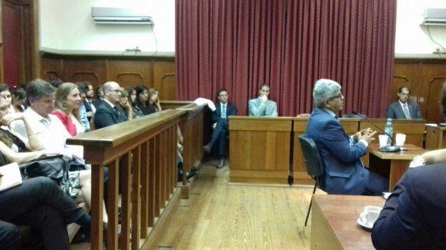 El fiscal Jorge Baclini en la ceremonia realizada en Santa Fe.