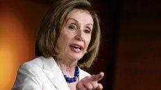 Nancy Pelosi, demócrata y titular de la Cámara de Representantes. Aprobó el megapaquete de ayuda de Biden.