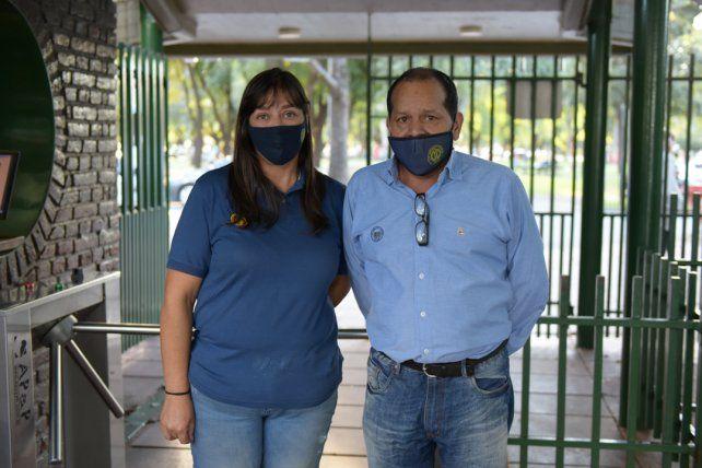 Marisa Disz Patrón y Norberto Acosta.
