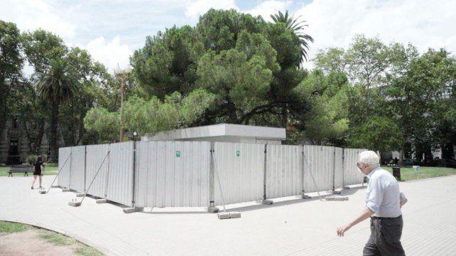 Se develó que construyen en la Plaza San Martín: una oficina móvil para el Boleto Educativo