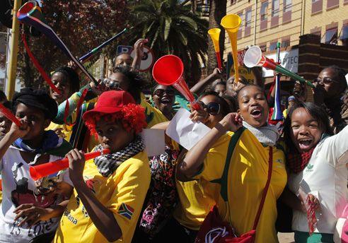 Pasión de los sudafricanos por su selección