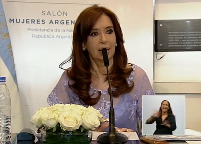 La presidenta se quebró al recordar al presidente Néstor Kirchner y agradeció el apoyo de los miliatntes.