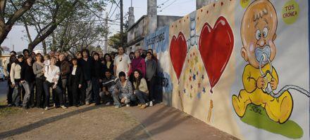 Inauguraron un mural de Noke por el Día Nacional de la Fibrosis Quística