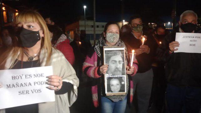 Movilización en reclamo de justicia por la seño Noe, la docente prendida fuego por su pareja
