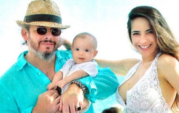 La pareja disfruta en Miami de unas relajadas vacaciones en familia.