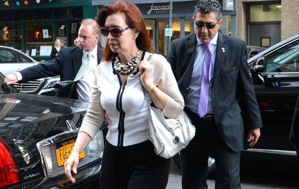 En Nueva York. La presidenta se hospedó en un hotel de Manhattan.