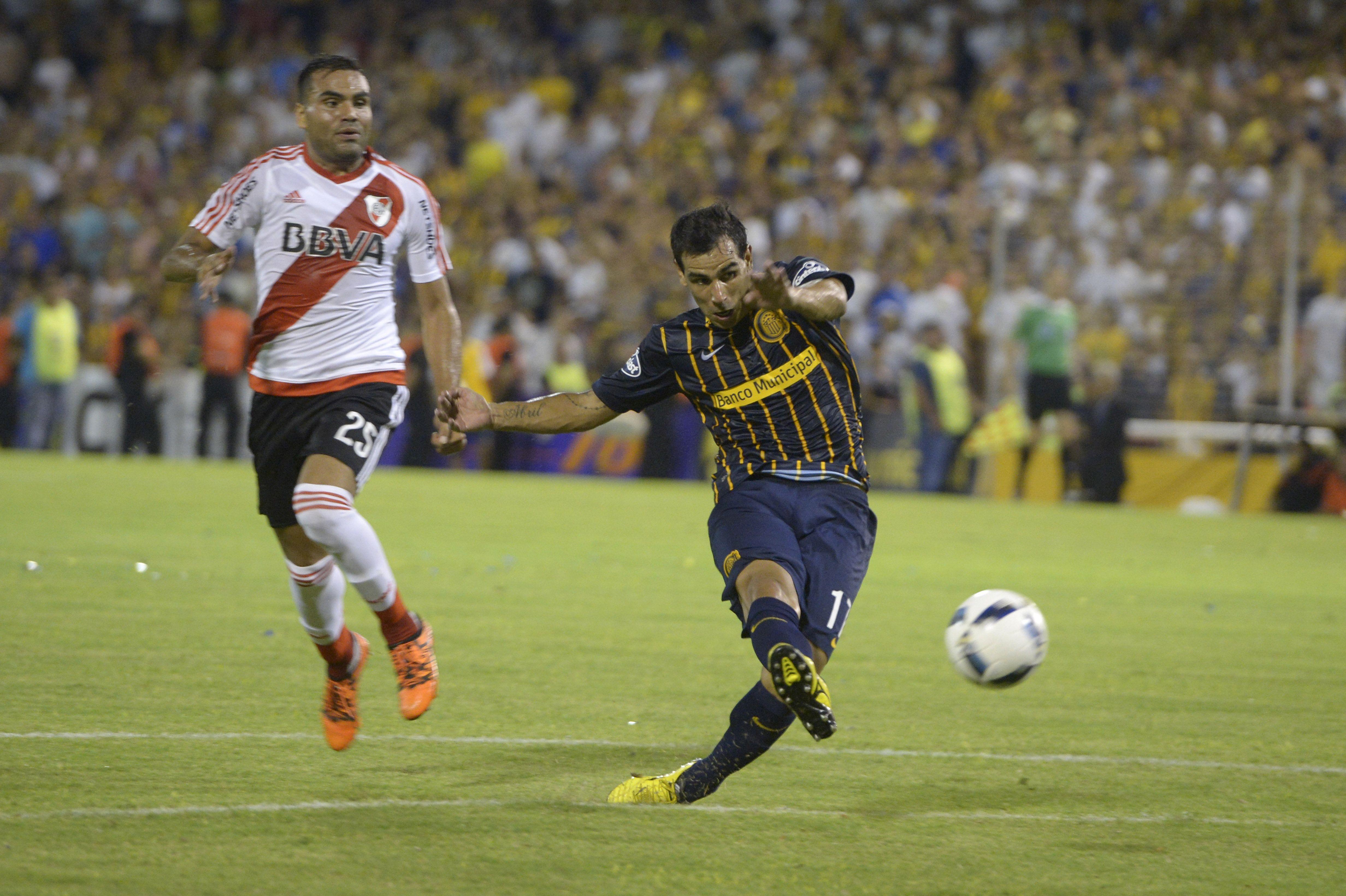 El Chaqueño Herrera hizo un gol ante River y fue figura ante Palmeiras. (Foto: A. Celoria)