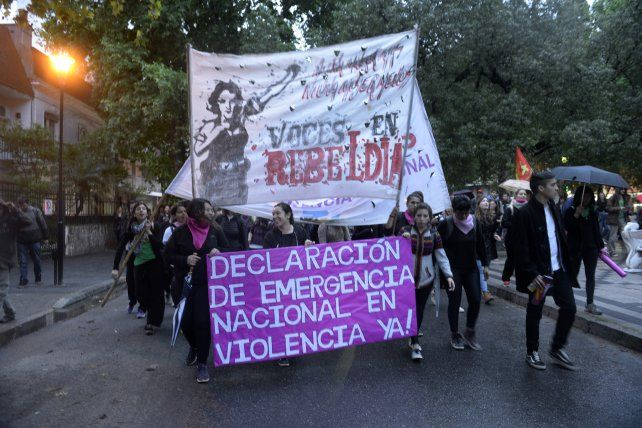 Una de las últimas manifestaciones en repudio de la violencia de género.