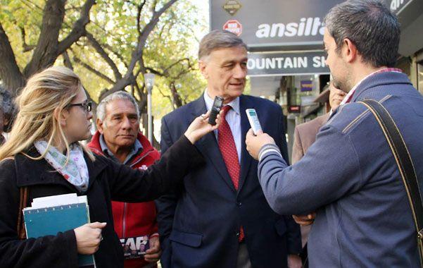 De gira. Binner llevó sus propuestas a Mendoza