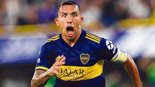 Todo el grito en la boca. Tevez fue el autor del gol del título xeneize