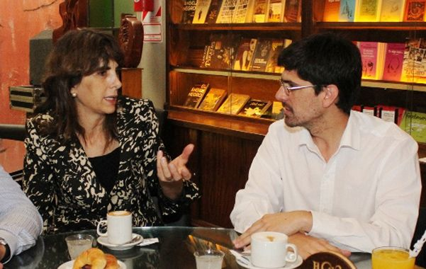 Respaldo. María Eugenia Bielsa y Artola compartieron un café.
