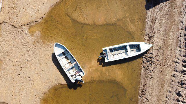Histórica bajante del río Paraná