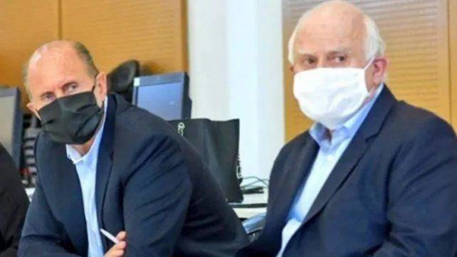 Omar Perotti y Miguel Lifschitz