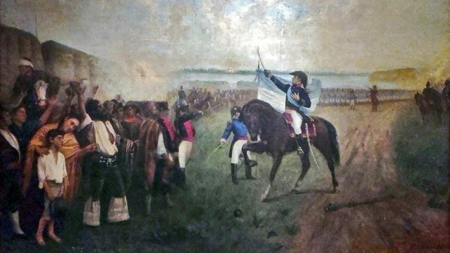 Juramento de la bandera a orillas del río Paraná