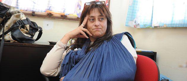 Silvia Altavilla no llegó ni a entrar al jardín cuando fue arrastrada y golpeada salvajemente. (foto: Enrique Rodríguez Moreno)