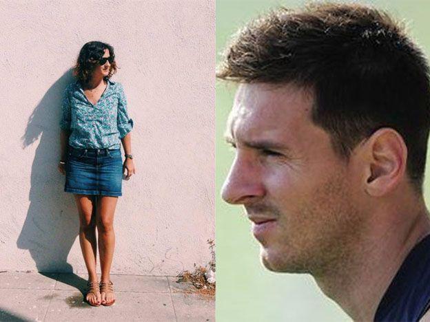 Dice que en su sombra se puede ver la cara de Messi