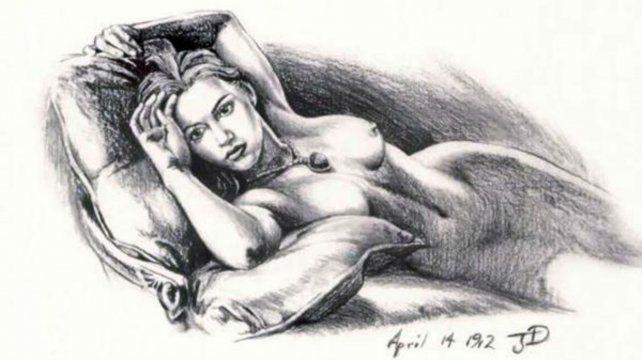 Kate Winslet quedó inmortalizada en ese espectacular dibujo.