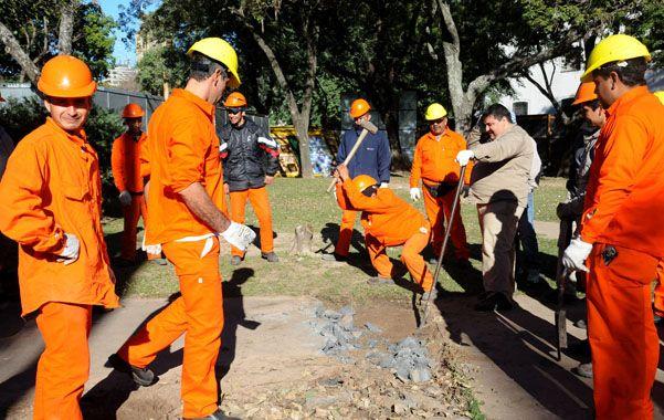 En Obras. El parque será remodelado para hacer 295 cocheras soterradas.